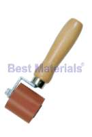 Silicone Seam Roller,  2 in. Wide x  2 OD., 1-Fork, Hardwood Handle
