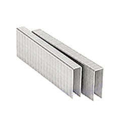 N-11 Staple, Senco Type, 3/4 x 7/16 Med. Crown 16 Ga Galv, 10000 - N-11 STAPLE (Senco type). 3/4 INCH LEG x 7/16 MEDIUM CROWN, 16 GAUGE GALVANIZED STEEL, CHISEL POINT. 10,000/BOX. PRICE/BOX.
