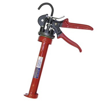Newborn 375-XSP Caulk Gun, 1/10 Gal. X-TRA 26:1 Thrust - The Newborn 375-XSP 1/10 Gal. Caulk Gun. X-TRA Super Power 26:1 Thrust Ratio caulk gun is a high-thrust model for use with any sealant or adhesive. Includes Easy Release Star-Burst Reverse-Punched Gripping Plate. Price/Each