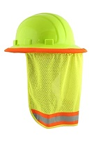 Neck Shield, High-Visibility Lime Color, for Hard-Hat (pack/3)