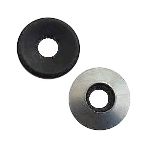 #12 x 15mm Galv. EPDM Bonded Sealing Washer (100) - #12 x 15MM SEALING WASHER. 20 Gauge Hot-Dip Galvanized Steel with Bonded EPDM Rubber Washer. 15mm (.590 Inch) OD x .245 Inch ID metal washer with ~.180 Inch ID rubber washer]. Fits #10 to #12 and 3/16 sized screws. Price/100.