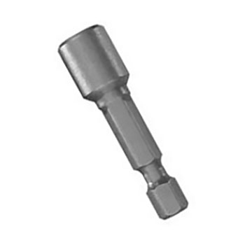 7/16 Hex Head x 2-9/16 Inch Magnetic Nutsetter - 7/16 HEX NUT MAGNETIC NUTSETTER, 1/4 HEX DRIVE x 2-9/19 INCH LONG. PRICE/EACH.