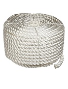 1 inch x 100 ft. White 3-Strand Twisted Nylon Rope