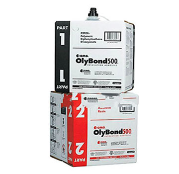 OlyBond 500 Bag-in-Box 10G Kit (A+B parts) - OlyBond 500 Bag-in-Box Kit, Two-part Polyurethane Adhesive. Includes BOTH parts A + B (# OB5001-BAG, OB5002-RBAG). 10 Gallons Total Adhesive. Price/Kit.