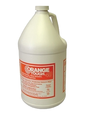 Orange Tough 40, Citrus HD Liquid Cleaner/Degreaser, 1 Gallon - Orange Tough 40, Citrus Based Heavy-Duty Liquid Cleaner/Degreaser. One-Gallon Bottle. Price/Bottle. (Flammable; UPS Ground shipment only)