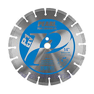 Pearl Abrasive Diamond Concrete Blade, 14 x .125 x 1, 12mm Height - Pearl Abrasive EXV1412XL EXV Series Diamond Concrete Blade, 14 inch diameter x 1 inch center Hole x 0.125 inch thickness, 12 mm Rim Height. Price/Each.