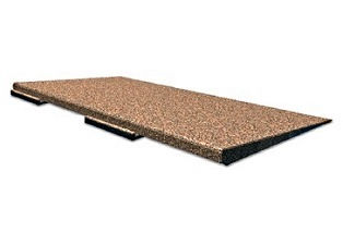 Rubber Deck Paver ADA RAMP Edge, Black Color - SofTile Rubber Paver ADA Compliant Tapered RAMP EDGE, Black Color. 48 Long x 25.75 x 2 inches thick. Price/Each. (shipping leadtime 4-8 business days)