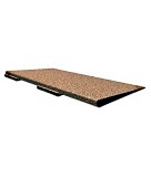 Rubber Deck Paver ADA RAMP Edge, SPECIFY COLOR