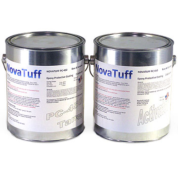 NovaTuff PC-450 Flexible Epoxy Coating, Extreme, SPECIFY Color (2G) - NovaTuff PC-450 (formerly AES-450) is a 100% Solids, 2-part Polyamide Epoxy Protective Coating System for Metal in Extreme Conditions. Marine Grade. Withstands most extreme corrosive and abrasive conditions. 2G Kit. Price/Kit. (see detail ordering notes)
