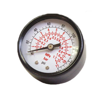 Senco 0-160 PSI Air Pressure Gauge 1/8 in. MPT