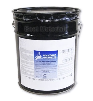 Polyglaze 400 Top Coat, DOLPHIN GREY, 2-Part (5G) - Polyglaze 400, DOLPHIN GREY Color Waterproofing Top Coat Kit, 2-Part Kit  (4.75 gallon tint-base  + 1 quart color pack). Price/Kit. (flammable; UPS ground only; 340 VOC not shippable to VOC restricted areas)