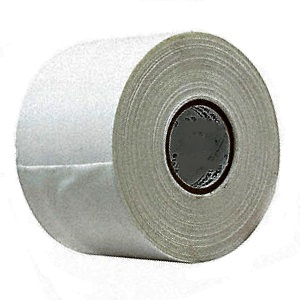 Super Seal Tape, High Strength Instant Bonding, 4 in. x 60 yds - Super Seal Tape. High-Strength Instant-Bond Seam Reinforcement Tape. Spun-bond polyester with acrylic adhesive. White Color, 9 mils thick, 4-inch Wide x 60 Yard Roll (180 ft). Price/Roll.