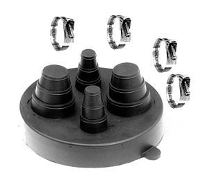 Portals 29225, C-212 4-Pipe Flashing Cap with Clamps - PORTALS PLUS 29225 4-PIPE FLASHING CAP WITH STAINLESS CLAMPS. FITS 2 PIPES 3/8 to 1, and 2 PIPES 1-2 INCH OD. PRICE/EACH. (shipping leadtime 1-3 business days)