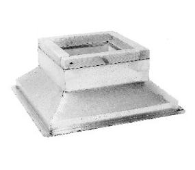 Portals 32151 Type RC-4A-LARGE Roof Curb for C-181 Cap - Portals Plus #32151 RC-4A LARGE Roof Curb, 20x20 inch top x 9-1/2 inches high x 28x28 base, canted. For Decks with Rigid Insulation. Fits a 32041 Single C-181 Cap Cover (not included). Price/Each. Special Order. (shipping leadtime 5-7 business days)