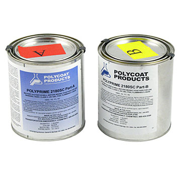 Polyprime 2180SC Penetrating Waterproofing Primer, Low VOC, 2 G - POLYPRIME 2180SC PENETRATING WATERPROOFING PRIMER, 100 VOC SCAQMD GRADE, 2-PART EPOXY-POLYAIMNE. 2 GALLON KIT (A & B PARTS), PRICE/KIT. (UPS Ground shipment ONLY)