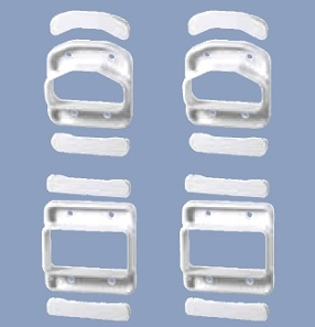 Prodeck Rail Line Connector Set 4 Units Specify Color