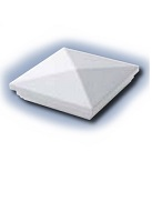 ProDeck Deck Cap, 4x4 inch, New England Style, White