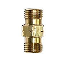Propane 3/8 in. X 3/8 in. (9/16 LH MPT X, 9/16 LH MPT) Adapter - Propane Hose Fitting, Left Hand 9/16-18 MNPT x 9/16-18 INCH MNPT Left Hand Thread. All Brass. Price/Each. (aka # ME26C; special order, shipping leadtime 2-4 business days)