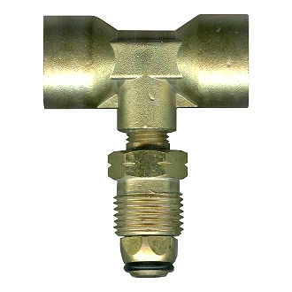 Propane Tank P.O.L. T-Block, All Brass - Propane Tank POL T-Block (Tee Block), 3-way / Splitter. All Brass. Attaches 2 POL fittings to one POL Tank, or attach 2 tanks to one device. No Excess Flow Valve. Price/Each. (aka # FFM-1701B)
