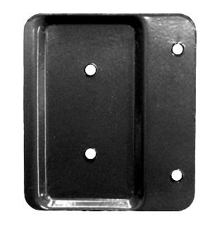 Deck Rail End Brackets 2x4 BLACK color box 100