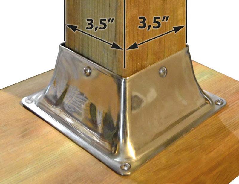 Base Deck Post Bracket Stainless Steel