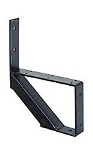 1-Stair One-Piece Stair Riser, Black Powder Coated Steel (case/4)