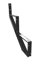 2-Stair One-Piece Stair Riser, Black Powder Coated Steel (case/4)