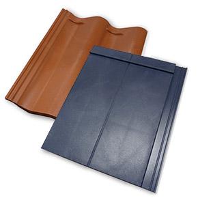 Plastic roofing tiles tile design ideas for Fiber cement composite roofing slate style