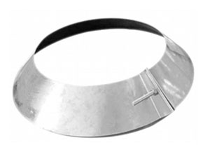 Acudor Rain Collar, Galvanized Steel, 6 inch - 6 inch Rain Collar, Galvanized Steel. Fits 6 inch nominal Pipe Size, but has 2-inches of Range Adjustment. One M6 x 45 Galvanized Steel Bolt with Nut. Price/Each. (Shipping Leadtime 1-3 Business Days)