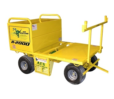 Raptor R2000 Mobile Fall Protection System - LES Raptor R2000 Mobile Fall Protection Sytem with Single Locking Storage Box (20 cuft.) and Flat Free Tires. Price/System. (shipping leadtime 1 week; aka # R-2000-01-15)