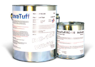 NovaTuff RC-105 Liquid Roof Seam Sealant, White Color, 0.8 G Kit - NovaTuff RC-105 (formerly AES-105) Liquid Roof Seam Sealant, White Color, 2-Part Epoxy. 0.8 Gallon Kit. Price/Kit. (shipping lead time 2-4 days; UPS Ground or truck shipment only).