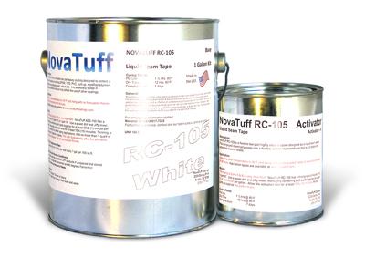 Novatuff Rc 105 Liquid Roof Seam Sealant White Color 0 8