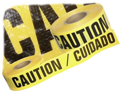 Reinforced Yellow CAUTION/CUIDADO Tape, 3 in x 500 Ft, 7 mil (case/8) - Reinforced Yellow CAUTION / CUIDADO Tape (English/Spanish). Heavy-Duty 3-inch x 500 Foot rolls, 7 mil thick Bright Yellow Polyethylene Reinforced with Polyester Fabric. 8 Rolls/Case. Price/Case. (aka # BR3507Y22; shipping leadtime 1-2 business days)