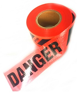 Reinforced Red DANGER/PELIGRO Tape, 3 in x 500 Ft, 7 mil (case/8) - Reinforced Red DANGER / PELIGRO Tape (English/Spanish). Heavy-Duty 3-inch x 500 Foot rolls, 7 mil thick Bright Red Polyethylene Reinforced with Polyester Fabric. 8 Rolls/Case. Price/Case. (aka # BR3507R39; shipping leadtime 1-2 business days)