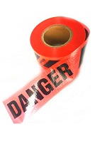 Reinforced Red DANGER/PELIGRO Tape, 3 in x 500 Ft, 7 mil (case/8)