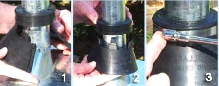 Retrofit Collar Assembly For Waterproofing Roof Penetrations