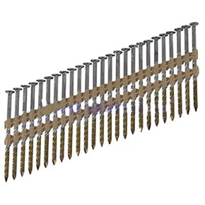 2-3/8 x .148 Stainless 8D Nail, SPIRAL, Collated, FRH Box, 2500 - 2-3/8 in. X .148 in. 304 GRADE STAINLESS STEEL, SPIRAL / SCREW SHANK, 8D, 20-22 DEGREE PLASTIC COLLATED , 9/32 DIAMETER FULL ROUND BOX HEAD, 2500/BOX, PRICE/BOX. (Steelhead #st8d148sss)