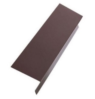 3 in. X 3 in. X 10 ft. Drip Edge, 26 Gauge Galv. BROWN - Drip Edge Roof Flashing Metal, 3 in. Face x 3 in. Top x 10 ft. Piece, 26 Gauge BROWN FINISH, G90 Galvanized. Price/Piece. (overstock, qty limited)