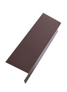 2 in. X 2 in. X 10 ft. Drip Edge, 26 Ga Galv. BROWN