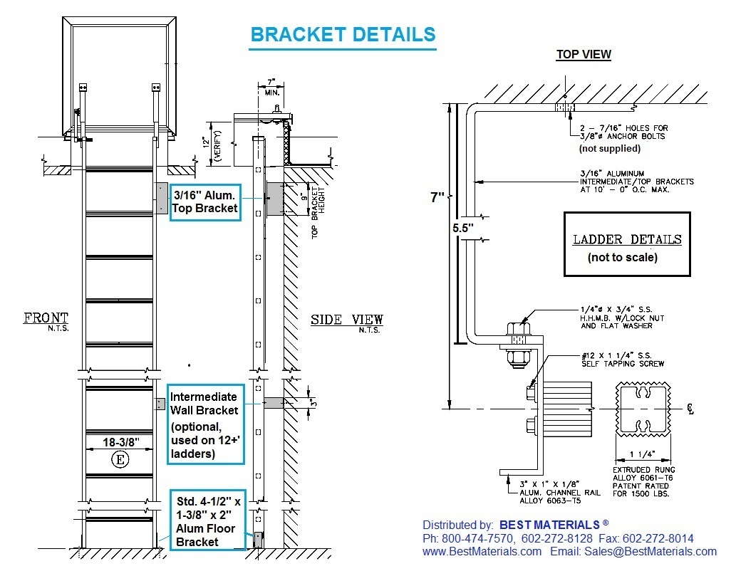 Ladder For Roof Access 2D DWG Elevation for AutoCAD ...   Roof Access Ladder Drawing