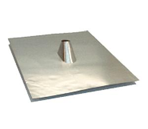 1-1/2 in., Aluminum Pipe Jack / Cone Flashing, 21x24 Base - 1-1/2 inch Size All Aluminum, Roof Pipe Flashing (IP Jack / B-Vent Roof Jack, 21x24 inch Soft Aluminum Base for Tile Roofs. For flat to 5/12 Pitch. Price/Each. (25/box; order full boxes for added discounts; leadtime 2-3 days)