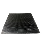 Roof Walkway / Protection Pad, Black EPDM, 30x30 in., HEAVY DUTY Grade
