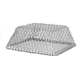 Roof Vent Guard, Animal Control Screen, 16 x 16 x 5, Stainless Steel - HY-C Company #RVG1616 Roof Vent Guard / Animal Control Screen, 18 Gauge Stainless Steel 16 x 16 inch base x 5-inch High. Price/Each. (shipping lead time 2-4 business days)