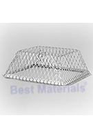 Roof Vent Guard, Animal Control Screen, 16 x 16 x 5, Stainless Steel