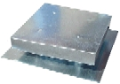 Roof Vent 18 X 18 inch, Flat Top Box Vent, 3.5 Rise, 26 Gauge