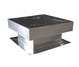Flat Roof Vent for Foam Roofs, 18X18 in., 7 inch Rise - Flat Roof Vent for Foam Roofs, 18x18 inch ID, 30x30 Base, 7 in. Rise, 12 in. Overall Height, Top Not Removeable. 26 Gauge Galvanized Steel. 247 sq.in. net free area. Price/Each. (20/pallet)