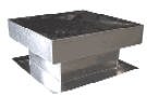 Flat Roof Vent for Foam Roofs, 18X18 in., 7 inch Rise