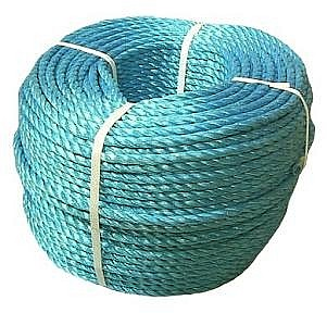 3/4 inch x 600 ft. High-Strength Cobalt Blue Polypropylene Rope - 3/4 inch x 600 Foot 3-Strand Twisted High-Strength COBALT BLUE Polypropylene Rope, UV Stabilized, 13,570 lb. Break Strength. Supplied in Coilette. Price/Each. (aka #TWCB240600, polysteel)