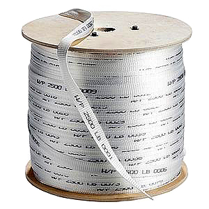 3/4 inch x 3000 ft. Polyester Pull Tape / Rope, 2500 Tensile - 3/4-inch x 3000 ft Woven Polyester Pull Tape / Pulling Rope. 2500 lb. Tensile Strength, Pre-lubricated with Footage Markings. 3000 ft/Spool. Price/Spool.