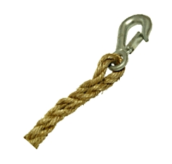 3/4 inch x 100 ft. Manila Rope w/  Forged Steel Snap Hook - 3/4 inch x 100